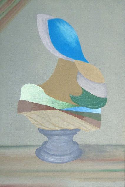 MICHELLE HANLIN  Four Busts 3 2010                               acrylic on canvas 20 ×30 cm