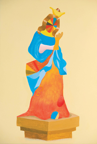 MICHELLE HANLIN  Monument 1 2009  acrylic on canvas 28 × 40 cm