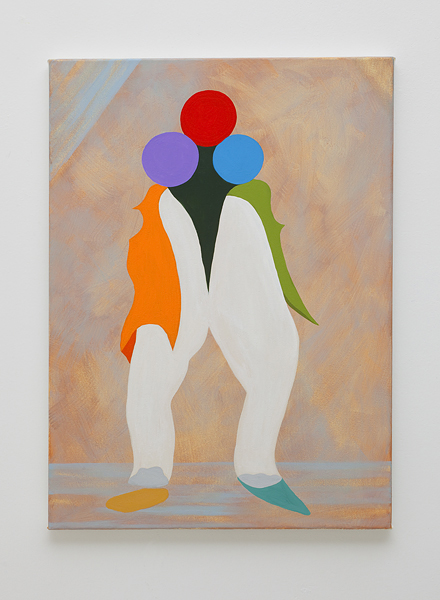MICHELLE HANLIN  Multi-task Re-enactments 2010                                          acrylic on canvas 41 ×56
