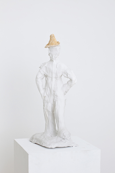 MICHELLE HANLIN  Rustic no Face  2010                                                                                       mixed media with plaster 20 × 20 × 65 cm