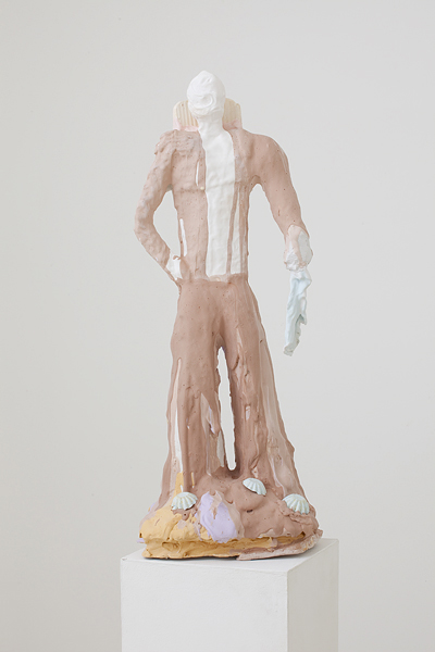 MICHELLE HANLIN  Single Akimbo 2010                                                                                        mixed media with plaster 25 × 25 × 75 cm