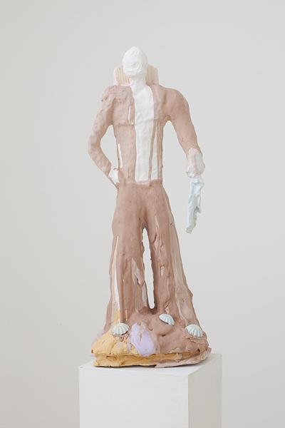 MICHELLE HANLIN  Single Akimbo 2010                                            mixed media with plaster 25 ×25 ×75 cm