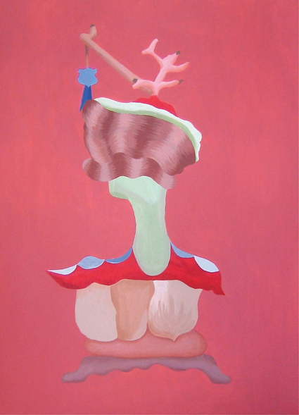 MICHELLE HANLIN  Two Busts 2 2009  acrylic on canvas 40 ×57 cm