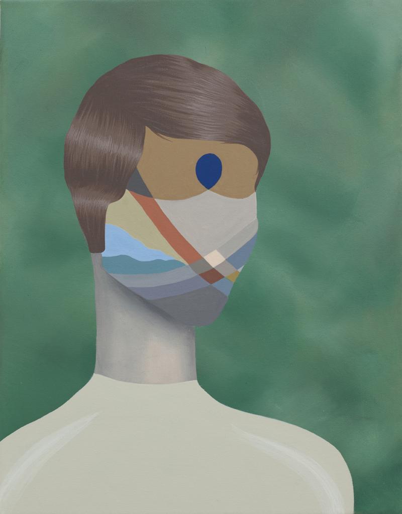 MICHELLE HANLIN  Five O'clock Shadow  2011  acrylic on canvas 45.5 ×35.5 cm