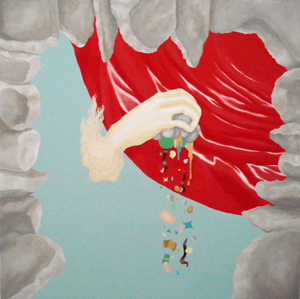 MICHELLE HANLIN  Something Happened  2008 acrylic on canvas 91.5 ×91.5 cm
