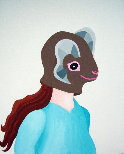 MICHELLE HANLIN  Betty 2007 acrylic on canvas 51 ×41 cm