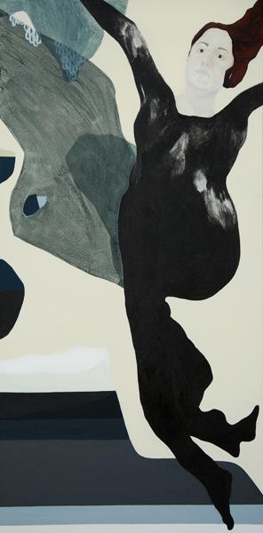 TONEE MESSIAH  Reflux 2010 acrylic on canvas 183 ×91.5 cm