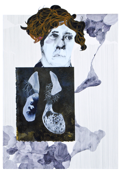 TONEE MESSIAH  Concrete Cancer 2010 mixed media on paper 76 ×56 cm