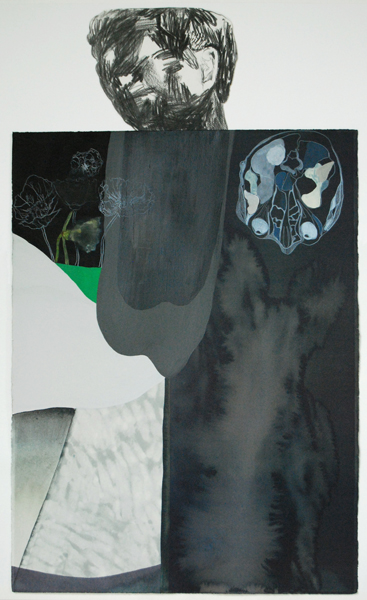 TONEE MESSIAH  Simply Couldn't, Absolutely Must  2010 mixed media on paper 94 ×56 cm