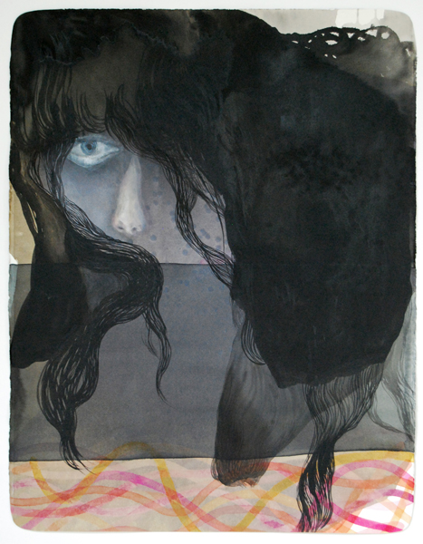 TONEE MESSIAH  I Know I Want Something 2010 watercolour, ink and gouache on paper 70 ×56 cm