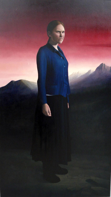 SIMON KENNEDY  Mountain Woman 2007 oil on canvas 213 ×121 cm