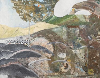 JAKE WALKER  The Inland Sea 2011 Oil on linen mounted on board 28.5 ×36 cm