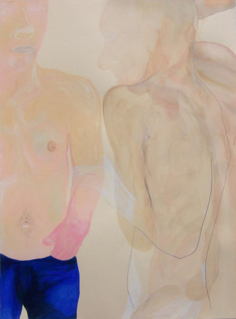 TONEE MESSIAH  Carry Me 2007 watercolour, pastel,coloured pencil on paper 76 ×57 cm
