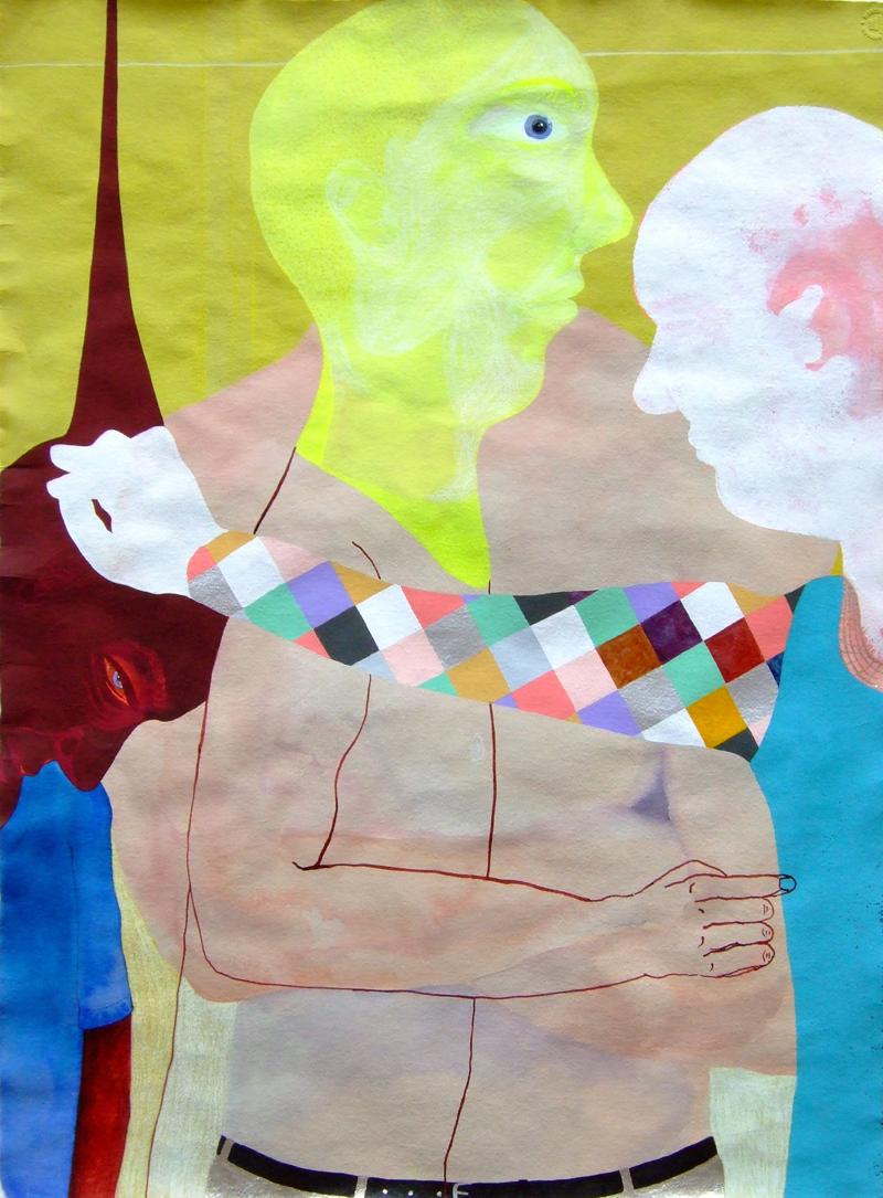 TONEE MESSIAH  Get Outavit  2007 ink, acrylic, gouache,watercolour, coloured pencil on paper 76 ×57 cm