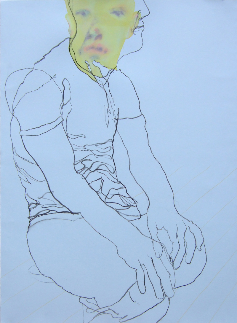 TONEE MESSIAH  Its You      2007 charcoal, watercolour, coloured pencil on paper 76 × 57 cm