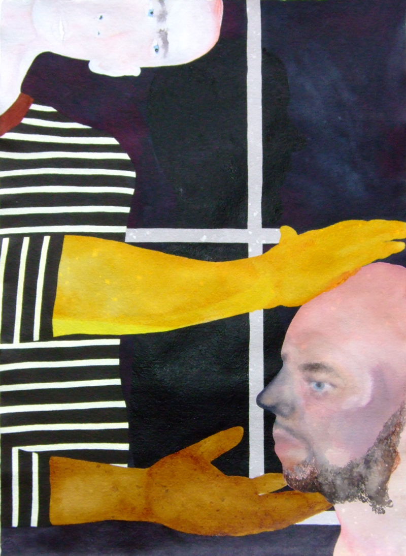 TONEE MESSIAH  Keep Your Chin Up, Arms Out 2007 ink, acrylic, gouache,watercolour on paper 76 ×57 cm