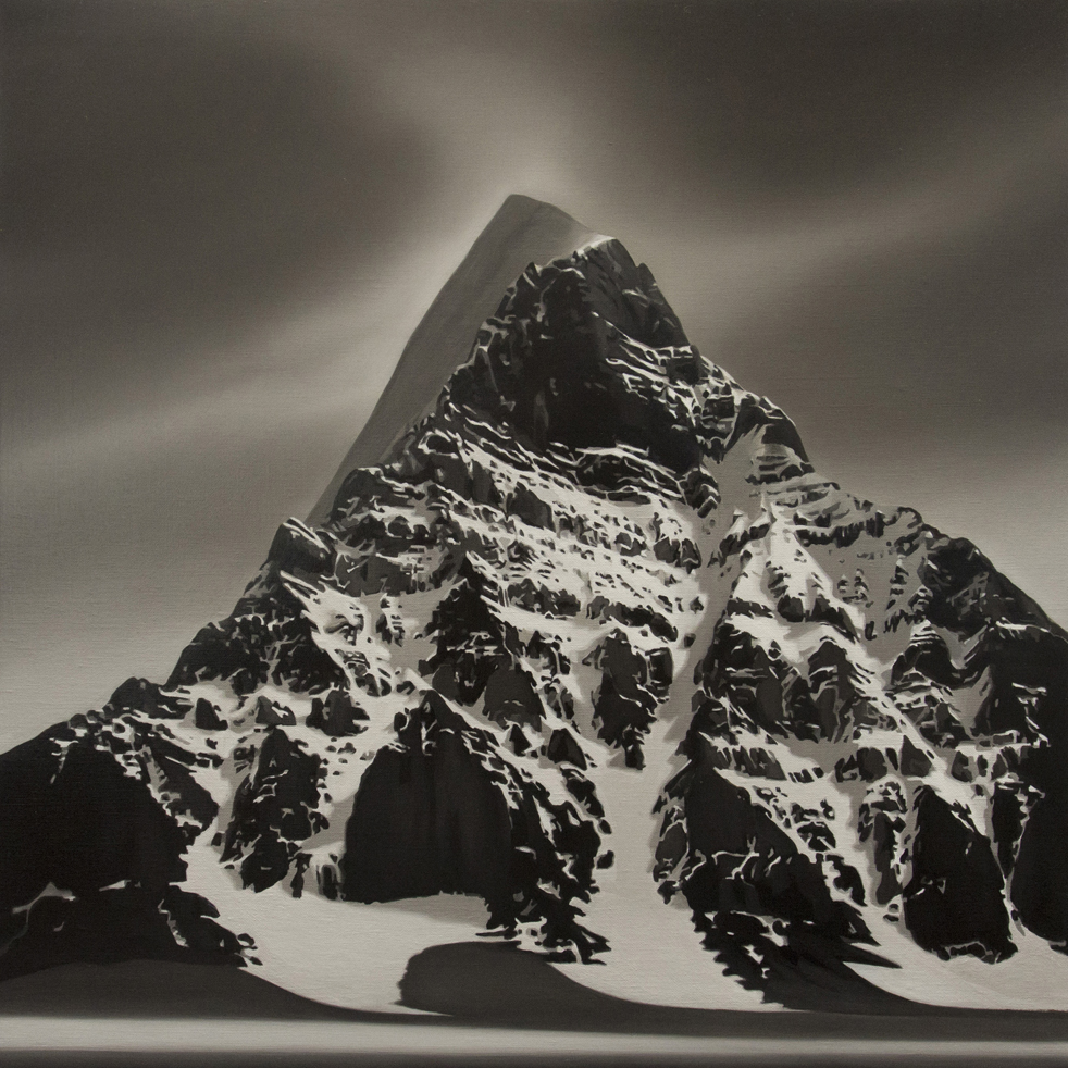TONY LLOYD  Black Mountain  2016 oil on linen 61 × 61 cm