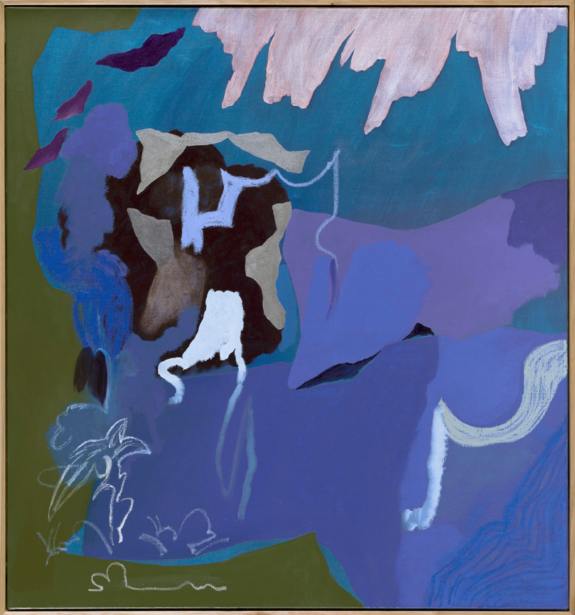 TONEE MESSIAH  Blue Lagoon  2016 oil on linen 76 × 71 cm