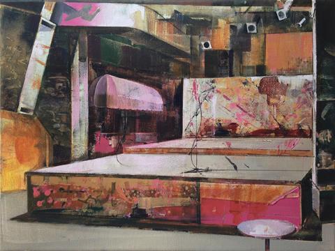 DAVID RALPH  GBGB's  R.I.Punk  2016 oil on canvas 30 × 40 cm