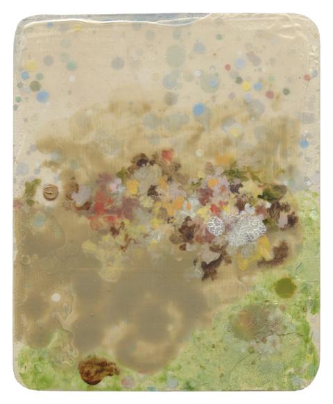 MARK RODDA  Nebula (Mineral Cloud)  2016 acrylic and oil on board 18 × 14 cm