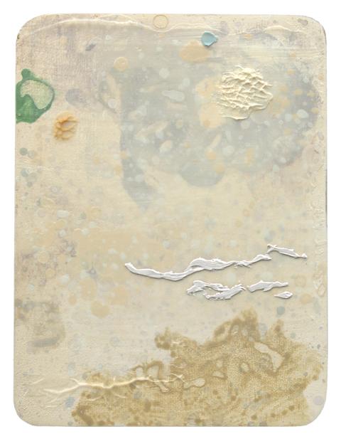 MARK RODDA  Nebula (Pale Braid)  2016 acrylic and oil on board 20 × 15 cm