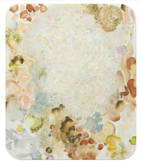 MARK RODDA  Nebula (Transparent Foam)  2016 acrylic and oil on board 36 × 30 cm