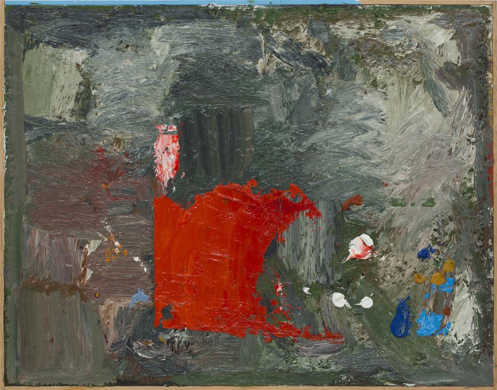 JAKE WALKER  Untitled painting No. 9 2010-13 oil on board 37 × 47 cm (framed)