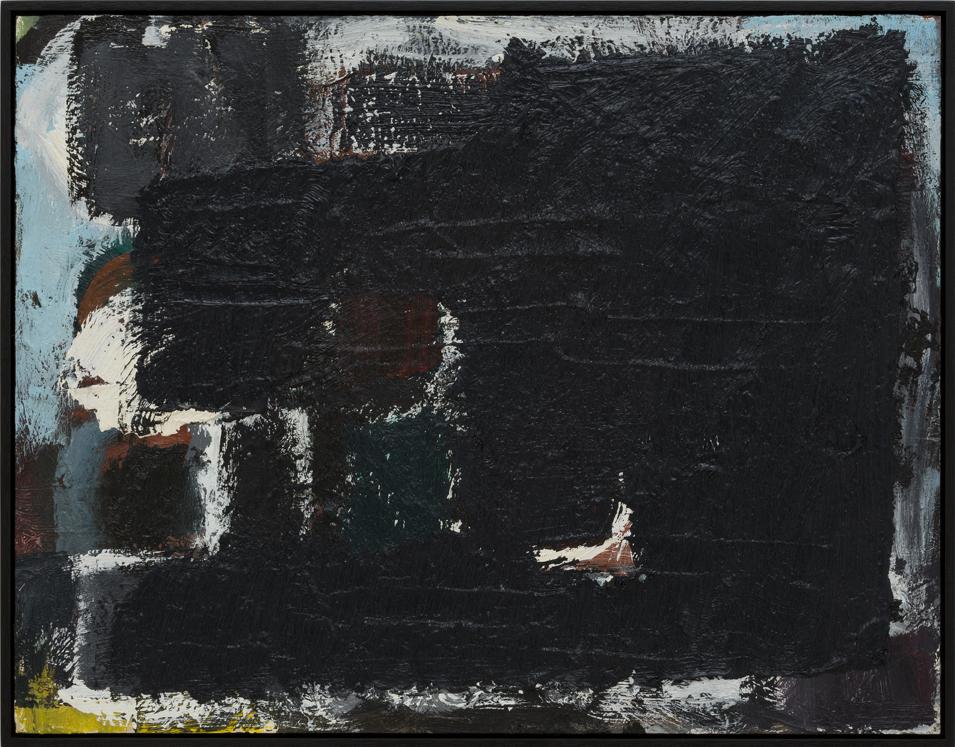 JAKE WALKER  Untitled painting 8 2011–13 oil on board 35.5 × 46 cm (framed)
