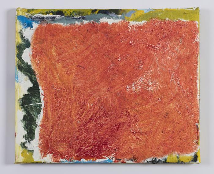 TEELAH GEORGE  Light for evening 2018 oil on canvas 39 × 56 cm