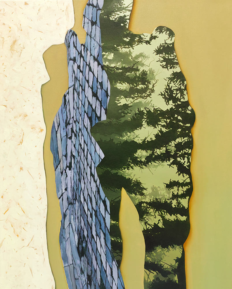 ALICE WORMALD  Lacuna 2018 oil on linen 53 × 43 cm (framed)