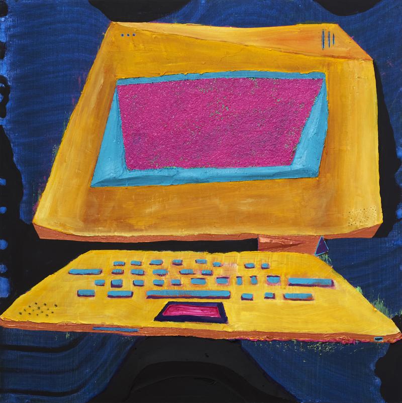 ANDRZEJ ZIELINSKI  Frozen Screen 2011 acrylic on linen 60 ×60 cm