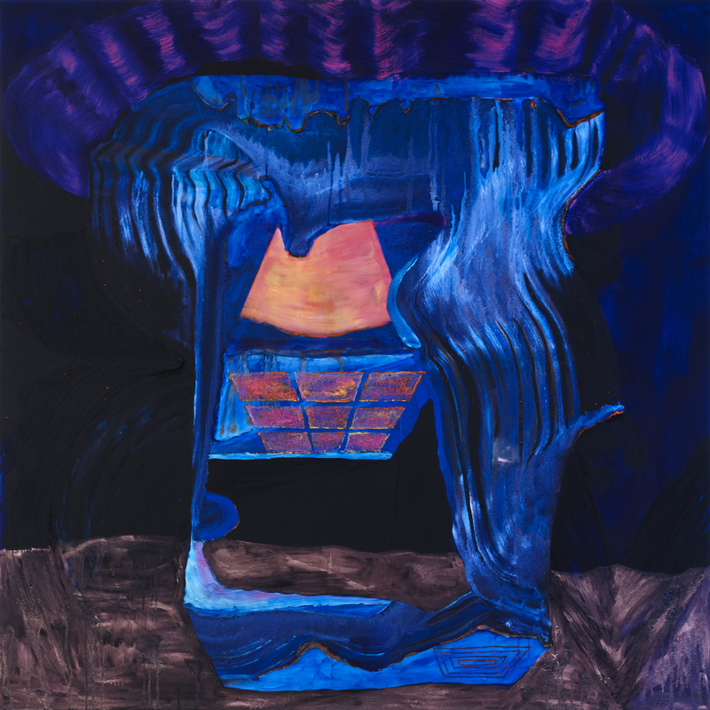 ANDRZEJ ZIELINSKI  Bank Machine at Night 2011 acrylic on linen 183 ×163 cm
