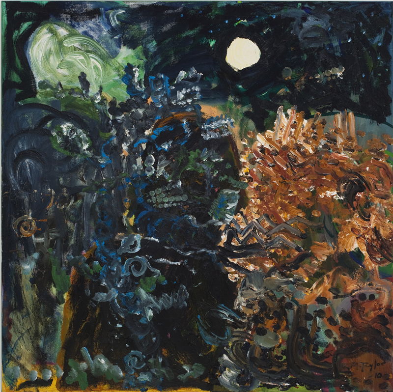 MICHAEL TAYLOR  Banksia Night 2010 oil and oil stick on linen 105 ×105 cm