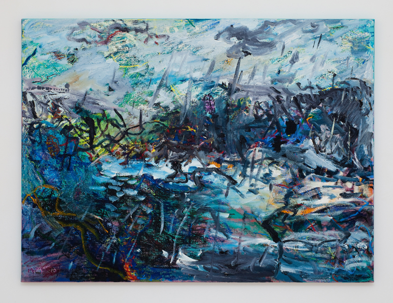 MICHAEL TAYLOR  Change of Season 2010 oil and oil stick on linen 120 ×160 cm