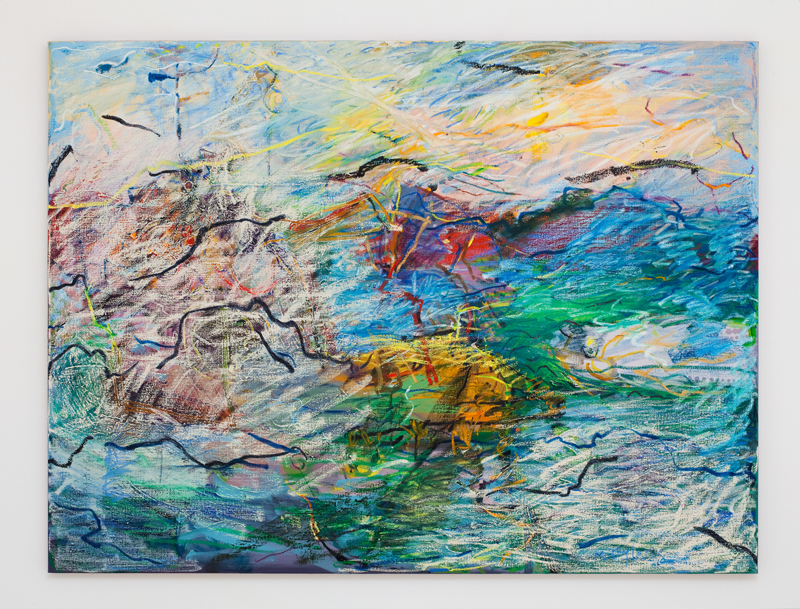 MICHAEL TAYLOR  Sea Story  2010 oil and oil stick on linen 137 × 183 cm