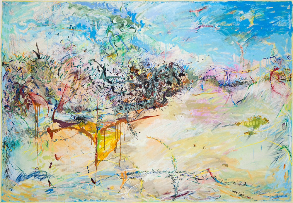 MICHAEL TAYLOR  Sandfly Point  2010 oil and oil stick on linen 193 ×278 cm