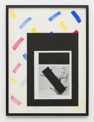 MARITA FRASER  O.T. (no.5)  2014 collage, gouache on paper, bookplate 63.3 × 47.5 cm