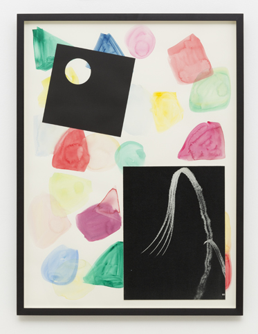 MARITA FRASER  O.T. (no.8)  2014 collage, gouache on paper, bookplate 63.3 × 47.5 cm