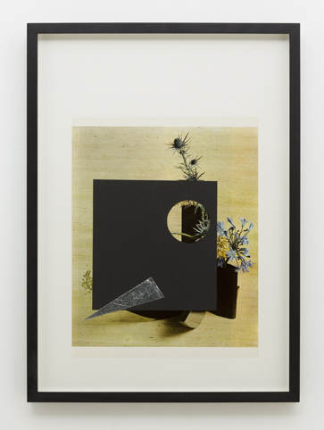 MARITA FRASER  O.T. (no.13)  2014 collage, bookplate, gold leaf on card 40 × 30 cm