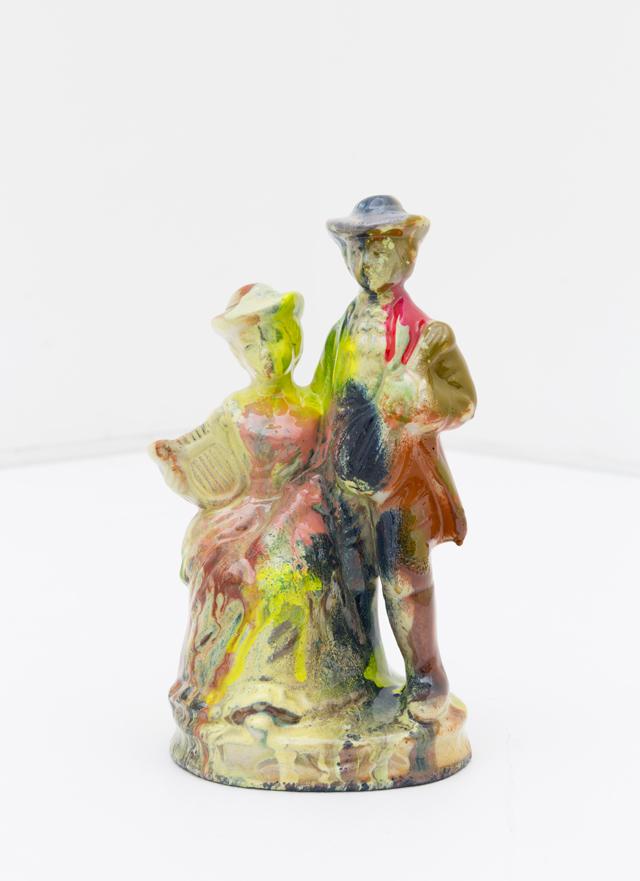 KYLE JENKINS  Untitled (Repeater) #17  2014  enamel on porcelain 16 ×9 ×6 cm