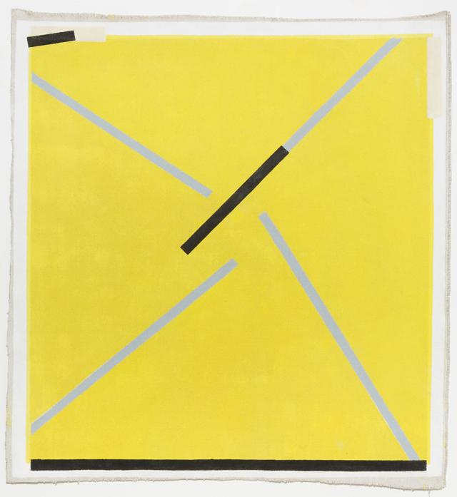 LYNNE EASTAWAY  Rough Yellow 2  2014 acrylic on heavy Belgian linen 113 ×103.5 cm