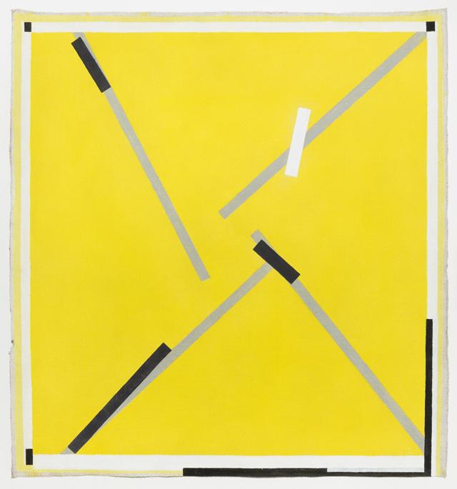 LYNNE EASTAWAY Rough Yellow 3 2014 acrylic on heavy Belgian linen 111 ×103 cm