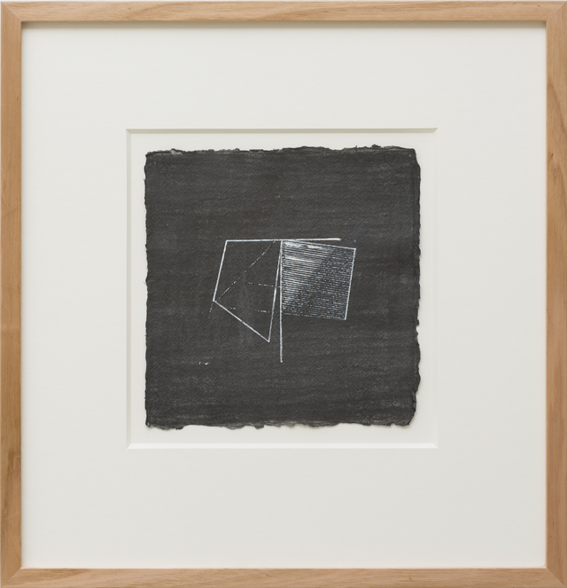 LYNNE EASTAWAY Folded series #1 2013 acrylic and graphite on paper 21 × 21 cm