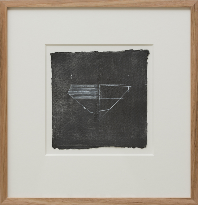 LYNNE EASTAWAY  Folded series #2  2013 acrylic and graphite on paper 21 × 21 cm