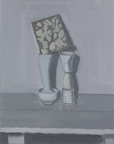 YVETTE COPPERSMITH  Common Structure, Smoothie  2014 oil on linen 75.6 × 60.5 cm