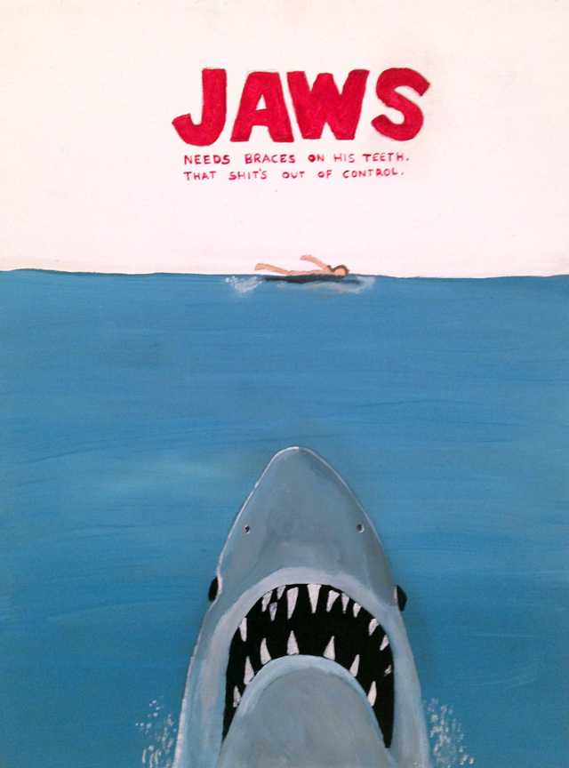 MARC ETHERINGTON  Jaws  2014 acrylic on marine plywood 40 × 30 cm