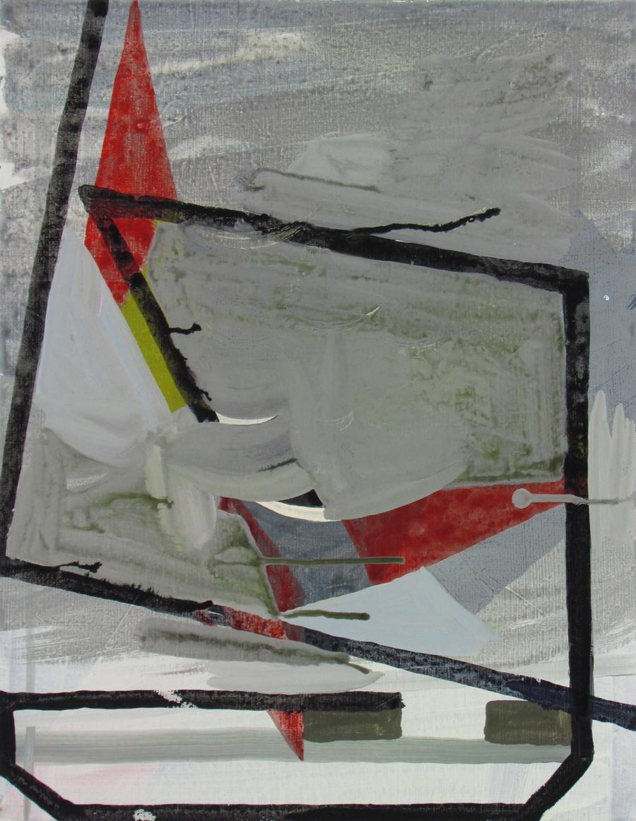 JULIAN HOOPER  Apparent Wind  2016 acrylic on linen 46 × 35 cm