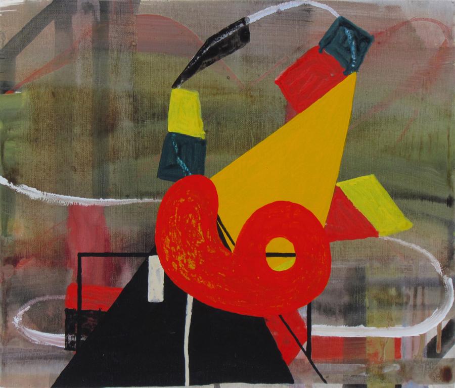 JULIAN HOOPER  The Big One  2016 acrylic on linen 31 × 36 cm