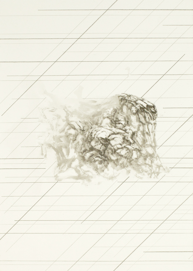 PETER NELSON  Ink Mountain (The Lost Man)  2014 ink and graphite on paper 30 ×21 cm