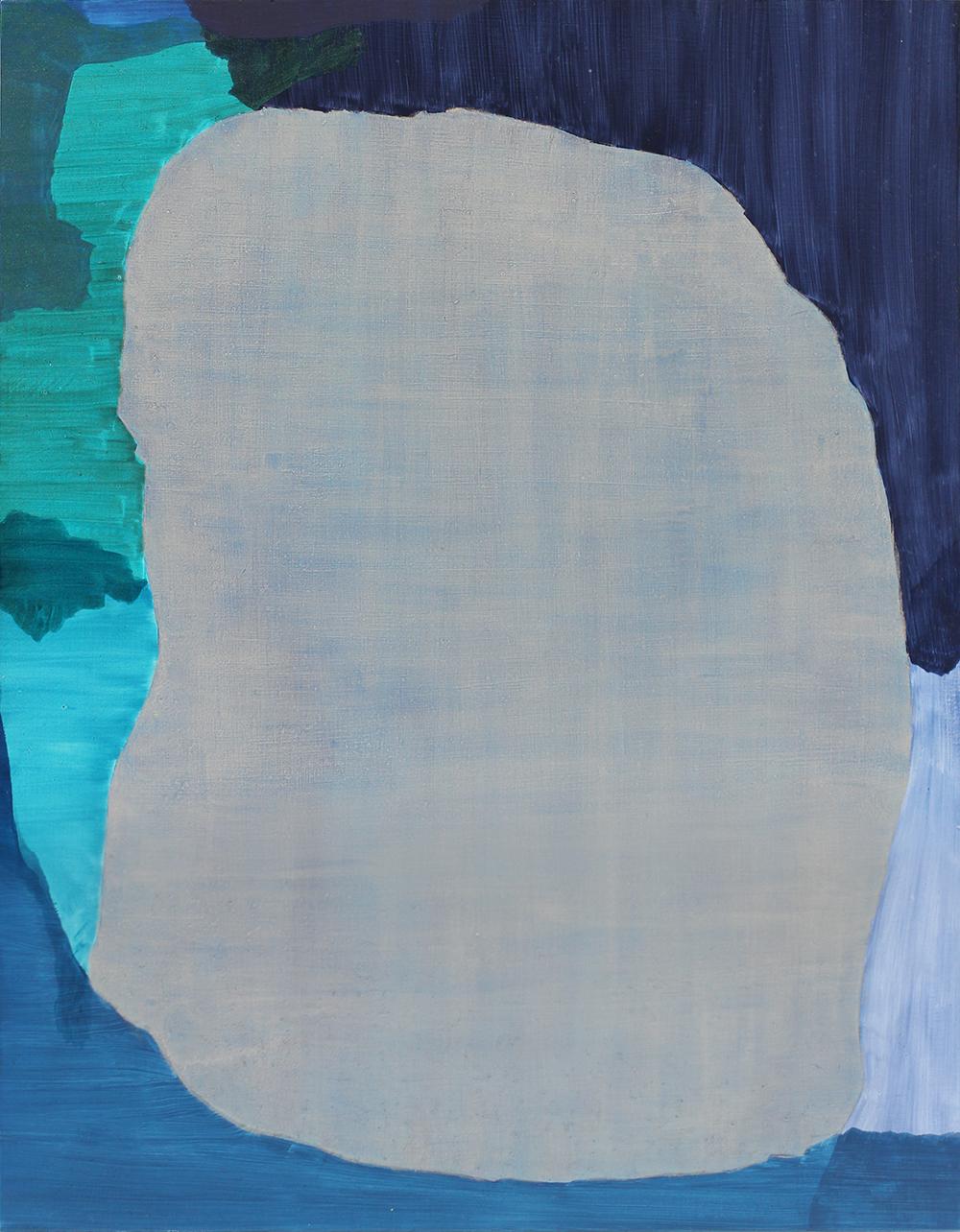 BALEM LETT  Blue  2014 oil on aluminium composite board 49 ×37 cm